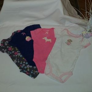Carter's Sz 3 months BUNDLE OF 4 ONESIES